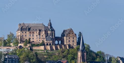 Fotografie, Obraz  Das Schloß im Marburg, Deutschland