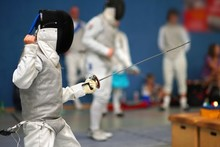 Junior Girl At Foil Fencing To...