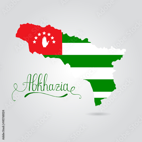 Map and flag of Abkhazia Canvas Print