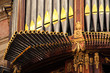 canvas print picture -  Detail from baroque pipe organ