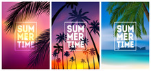 Summer Tropical Backgrounds Se...