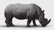 Vector Rhinoceros Illustration...