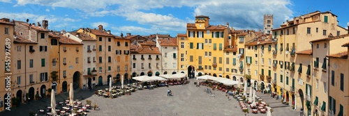 Wall Murals Old building Piazza dell Anfiteatro panorama view