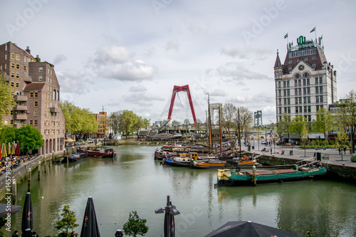 Staande foto Rotterdam building in Netherlands Europe in the afternoon with a cloudy sky