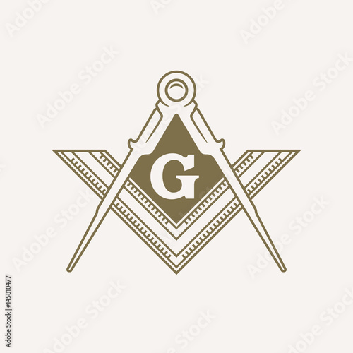 Freemason Flat Vector Symbol Canvas Print
