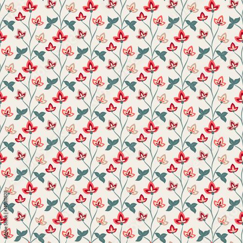 Fényképezés Floral seamless pattern, Jacobean style flowers
