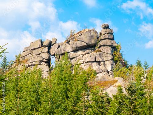 Fototapeta  Granite rock formation Pytlacke kameny in Jizera Mountains, Czech Republic