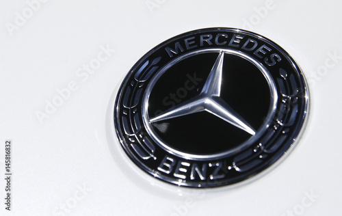 The Mercedes Benz Logo Is Seen At The 2017 New York International