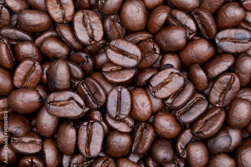 Café en grains close up shot of coffee background