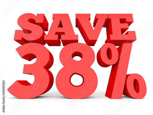 Tela Thirty eight percent off. Discount 38 %.