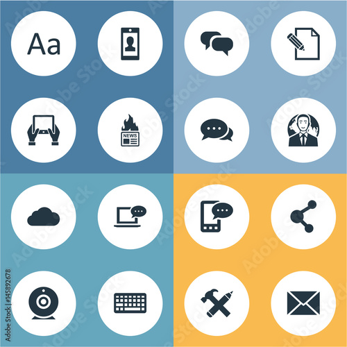 Vector Illustration Set Of Simple User Icons Wallpaper Mural