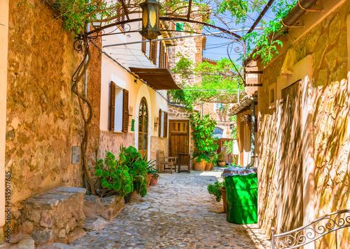 Mediterran Haus Terrasse Garten Idyllisch Buy This Stock Photo And