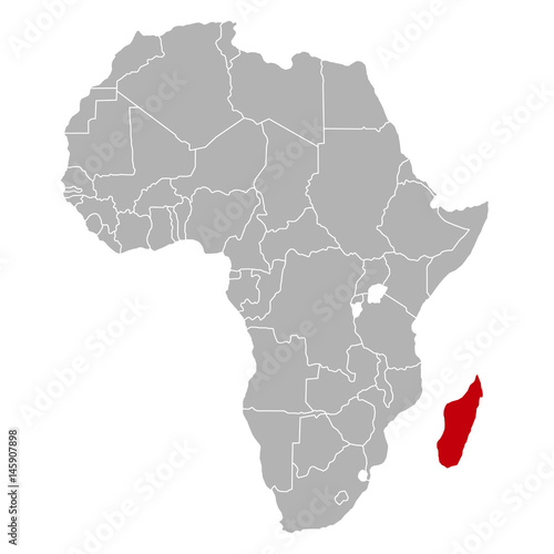 Madagaskar Karte.Madagaskar Auf Afrika Karte Buy This Stock Vector And