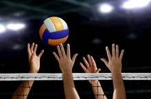 Volleyball Spike Hand Block Ov...