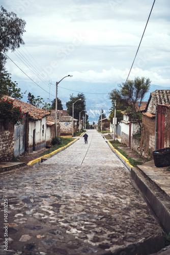 Fotobehang Zuid-Amerika land Street of mountain village