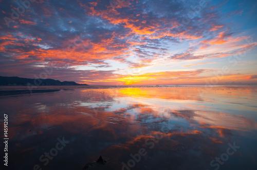 Foto op Aluminium Koraal glory sunset