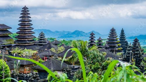 Door stickers Bali Roofs in Pura Besakih Temple in Bali Island, Indonesia