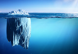Fototapeta Fototapety z naturą - Iceberg Floating On Sea - Appearance And Global Warming Concept