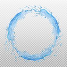 Water Frame. Transparent Splas...