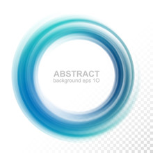 Abstract Transparent Blue Swirl Circle
