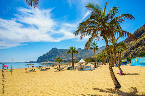 Tuinposter Canarische Eilanden Tenerife, Canary Islands, Spain-Las Teresitas beach near San Andres