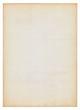 Leinwanddruck Bild Altes vergilbtes Blatt Papier, hochformat