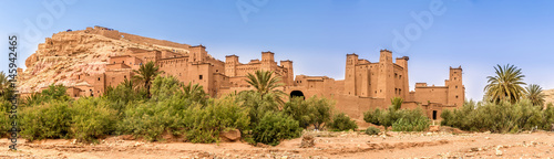 Poster Afrique Panoramic view at the Kasbah Ait Benhaddou - Morocco