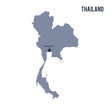 Vector map of Thailand isolated on white background.