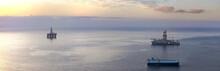 Drilling Rig On The Ocean Near Tenerife