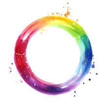 Watercolor Color Wheel, Hand P...