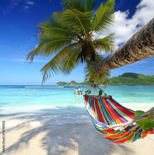 Stampa su Tela Reiseziel Seychellen