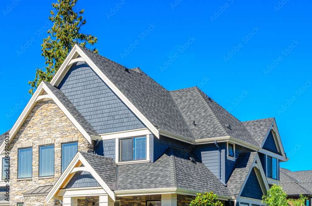 Fototapety, obrazy: the roof of the house with nice window
