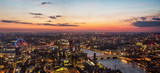 Fototapeta Londyn - Beautiful sunset over old town of city London, England