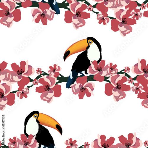 tropikalny-bezszwowy-wzor-z-kolorowym-pieprzojadem-i-kwiatem-wektorowy-lata-tlo-tekstylna-tekstura