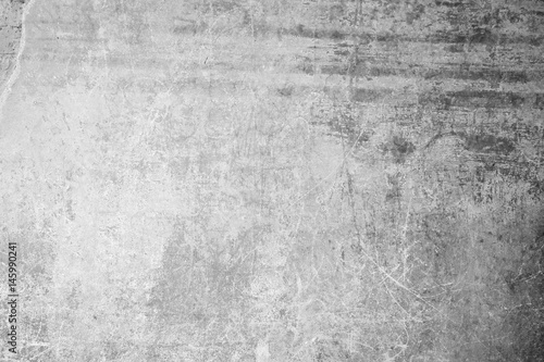 Fototapety, obrazy: Weathered, aged and scratched concrete wall texture background with some vignetting.