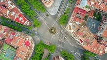 Roundabout In Barcelona, Spain...