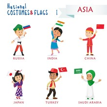 National Costumes And Flags Of...