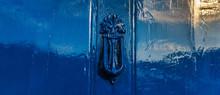 Blue Door With Brass Knocker I...