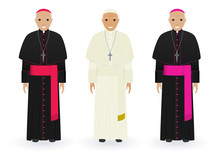 Pope, Cardinal And Bishop In C...