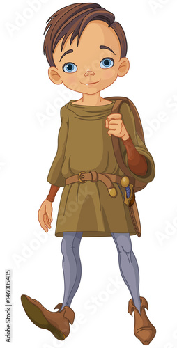 Poster Magie Medieval Boy