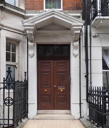 double wooden door of apartment building - Buy this stock ...