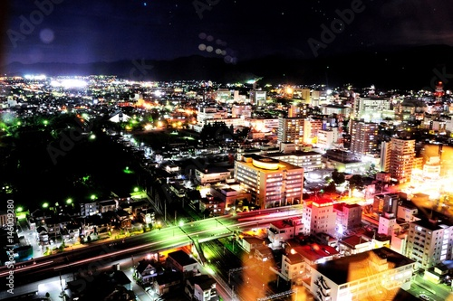 Foto op Canvas Las Vegas 山形の夜景