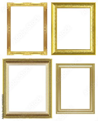 Fototapeta  frame antique golden isolated on white background obraz na płótnie