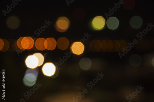 Abstract color full street light bokeh background  - Buy this stock