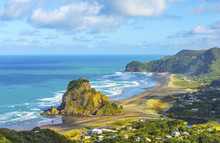 Look Out To Lion Rock Piha Bea...