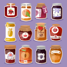 Glass Jar With With Jam Config...