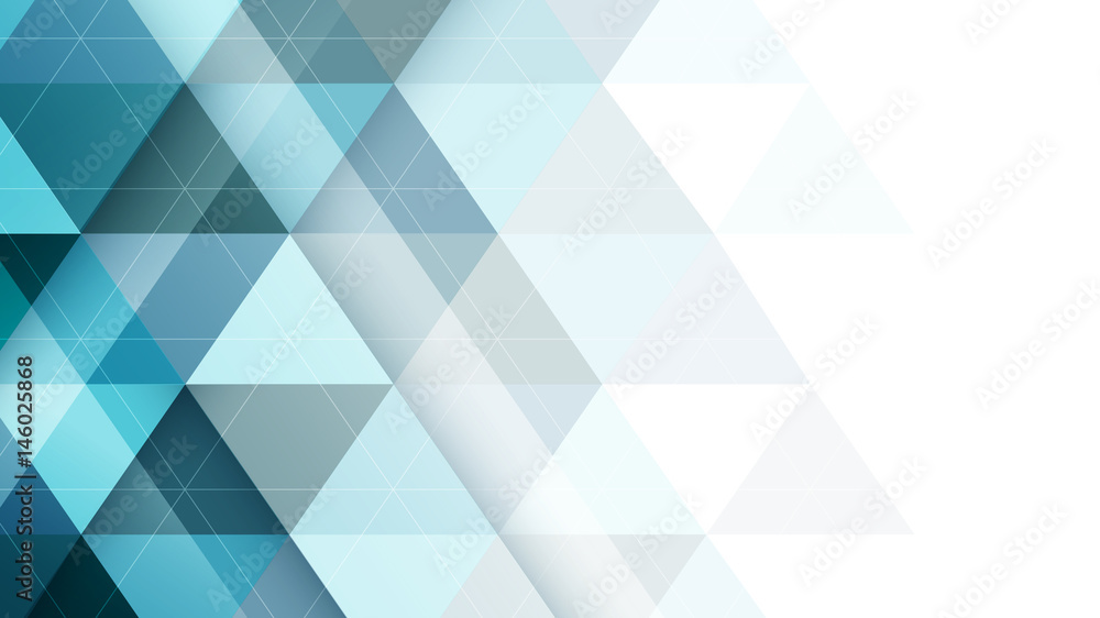 Abstract vector triangular symmetrical background.