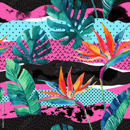 abstrakcjonistyczny-tropikalny-lato-projekta-bezszwowy-wzor