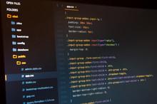 Css3 Code On Dark Background