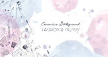 Fashion Cosmetics Horizontal B...